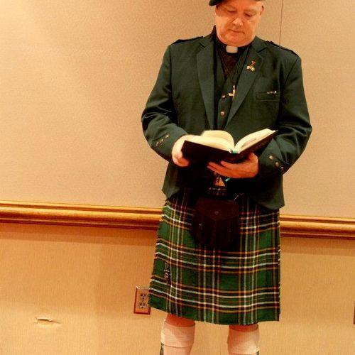 An Irish wedding [getting ready]  Irish Nat'l tartan.  I also have the All Ireland tartan.
