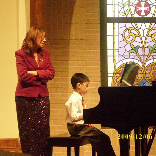 Christmas Recital Carina Tiotuico & piano prodigy Joel Bryan Tiotuico. My son is 10 years JB BECAME A PIANO PRODIGY AFTER 3 YEARS OF STUDYING.He performed in TV Shows,Competitions,International Festivals and is playing the pipe organ in St. James Church.