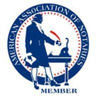 "American Association of Notaries Member ""In God We Trust"""