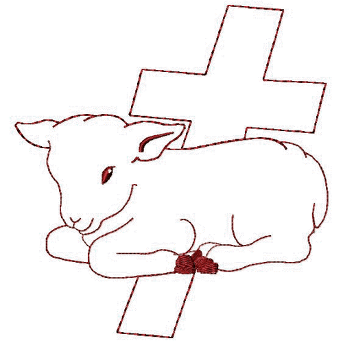 Our redwork Agnus Dei (Lamb of God) design is perfect for the season of Lent.