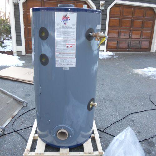 50gallon 51es (short) Bock oil fired water heater.
