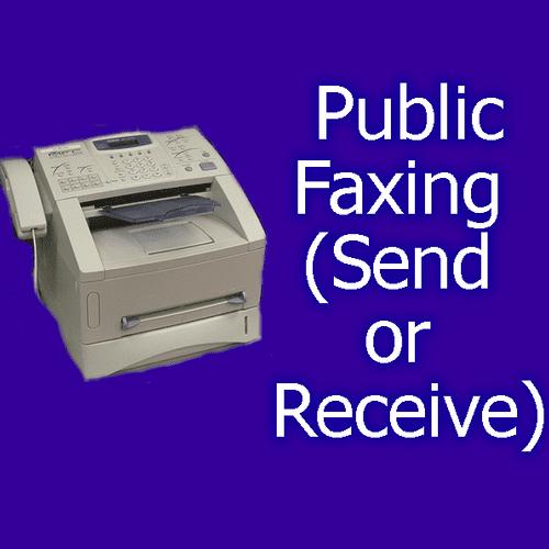 Send or receive a fax through us.