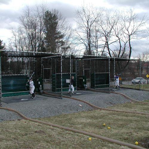 3 Stall open field batting range