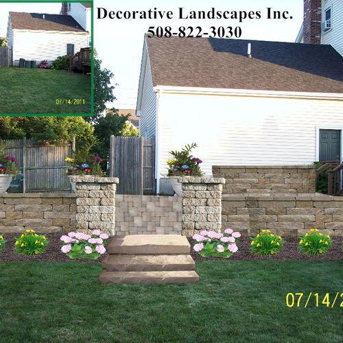 Residential Outdoor Living Area Landscape Design