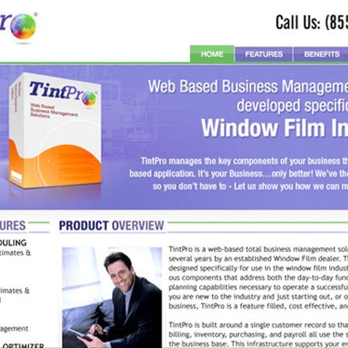 We designed: TintPro.com webite