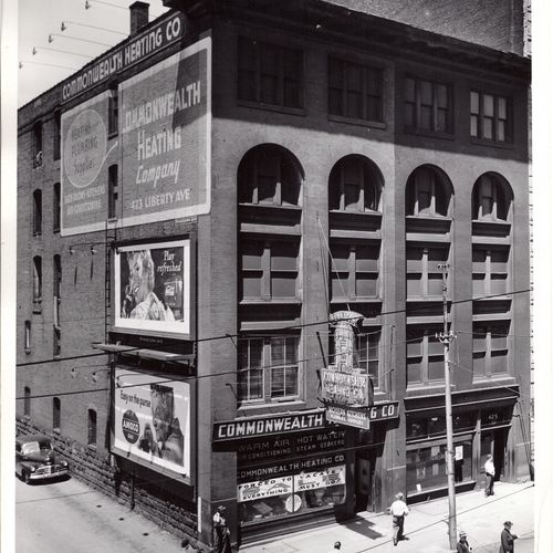 Our building around 1950, now the Hilton in Gateway Center