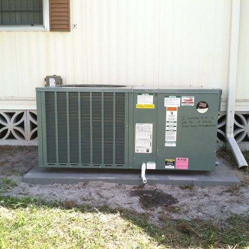 Package Unit air conditioner installed in North Fort Myers.