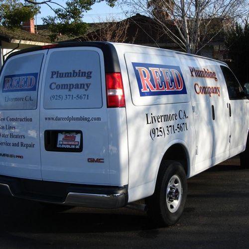 Reed Plumbing Co. Van graphics & Jobsite decals