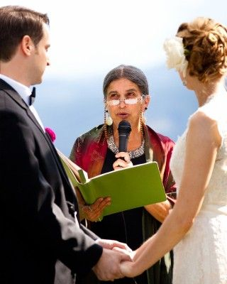 Formal Interfaith Wedding at Gorge Crest Vineyards in Washington officiated by Joanie Levine of Your Personal Ceremony