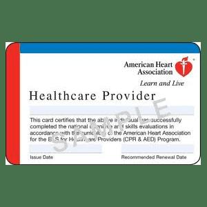 American Heart Association BLS Healthcare Provider Certifications