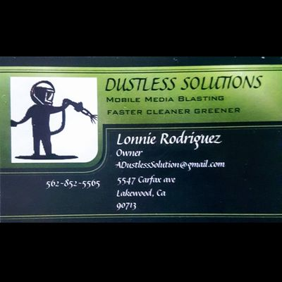 Avatar for Dustless Solution            Mobile Sandblasting Lakewood, CA Thumbtack