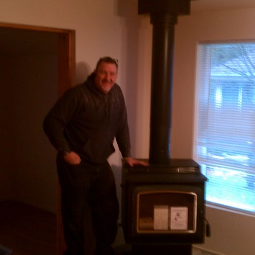Wood stove installation - lennox grandveiw