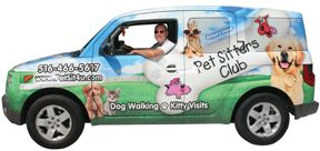 Here is James Garfinkel, owner and founder of Pet Sitters Club, at the wheel of our flagship car.