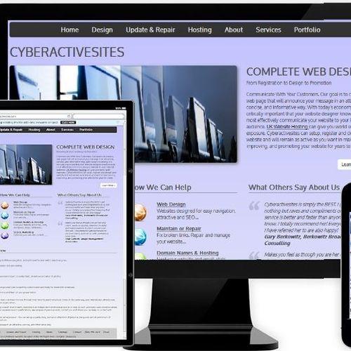 Complete website design and maintenance