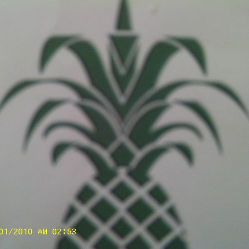 Pineapple, the symbol of hospitality.