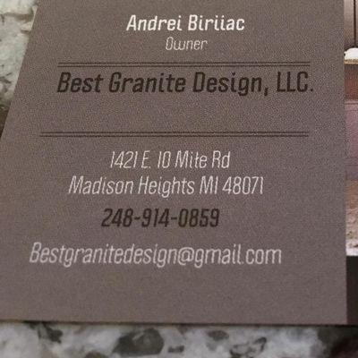 Avatar for Best Granite Design, LLC Madison Heights, MI Thumbtack