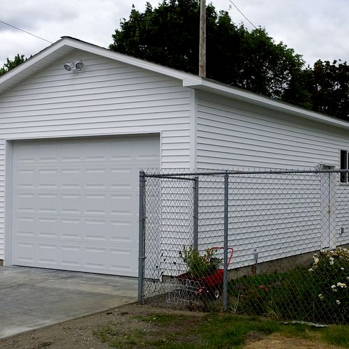 We tore down an old garage and built a new one in its place. spring 2012