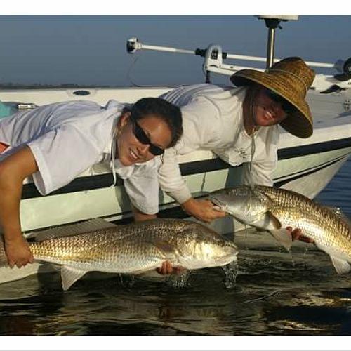 Family fun fishing for Big Redfish