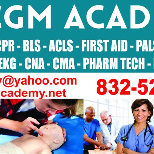 Call CGM Academy for CPR, BLS ACLS and other ECC courses. CGM Academy has instructors across the United States