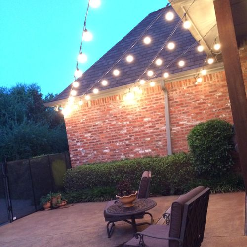 Brighton your patio up with some Festoon lighting