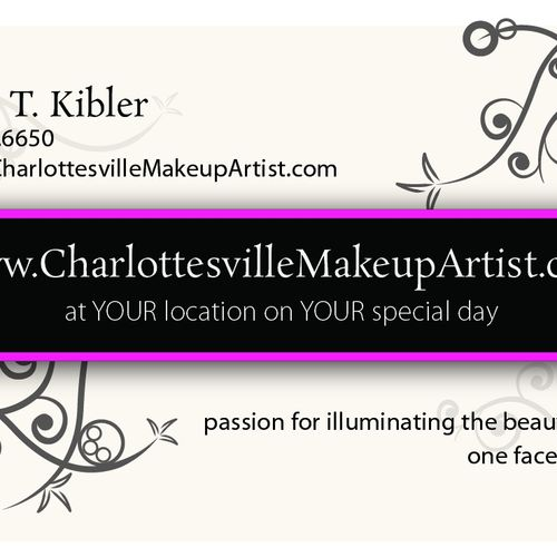 """Checkout my website at www.CharlottesvilleMakeupArtist.com.  If you'd like to get involved, check out my blog.  Just click on the wordpress """"w"""" icon at the bottom of my site to get to my blog!"""