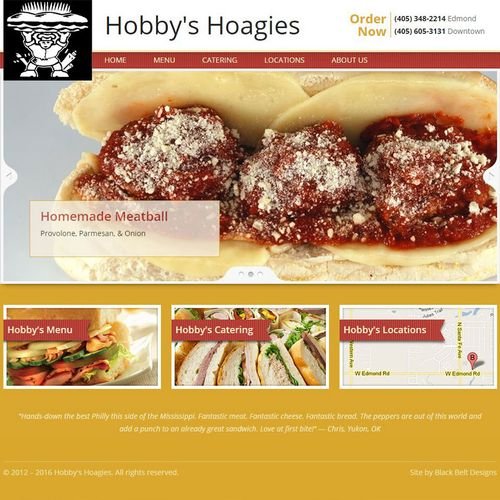 Hobby's Hoagies website