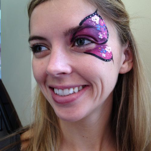 Big Grins Face Painting & Body Art Maryland DC party and events - Flowery butterfly