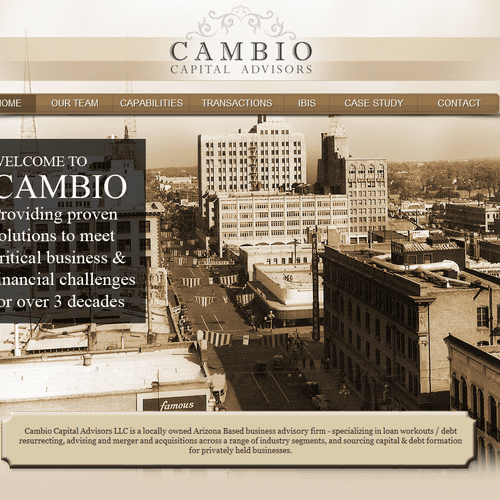 Cambio Capital Advisors - website designed by Solutions 8