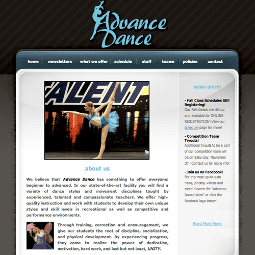 Dance Studio - Rio Rancho, NM. Visit http://www.advancedancewest.com/ to view the full website