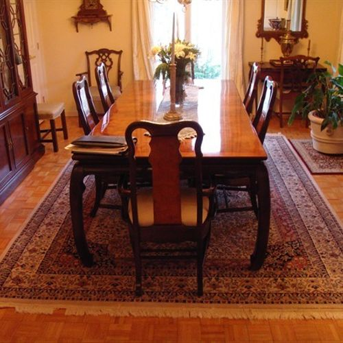 Dining Room Hardwood - Before