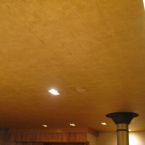 Gold-leaf ceiling, NYC