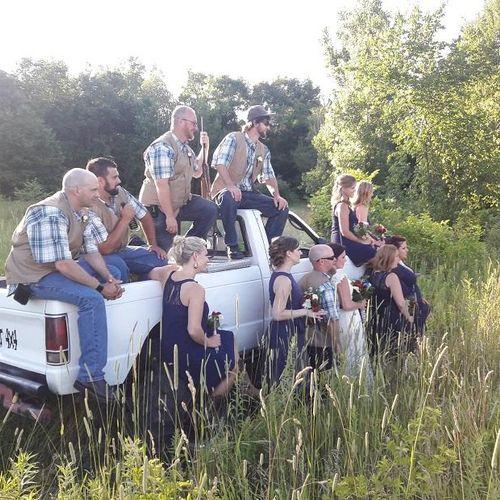 Bridal party has a shotgun affair