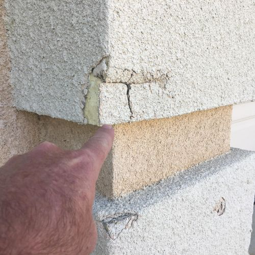 Siding damage which can lead to Water intrusion
