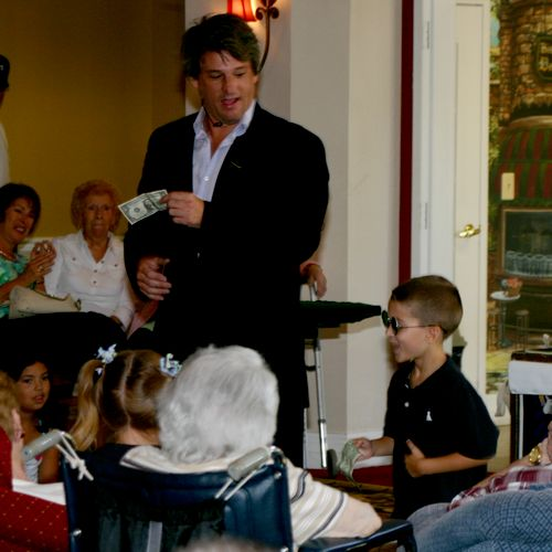 """Grandparents' Day at local assisted living facility - """"On behalf of the staff and residents here I would like to take a moment and thak you for a wonderful show... and we are excited for your next return. They were still commenting on it for days past the show. Thank you for the service you provided. It was greatly appreciated and enjoyed."""" - Julie Lloyd, Activities Director"""