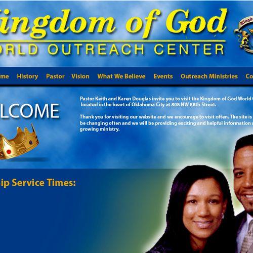 Kingdom of God Home page design.