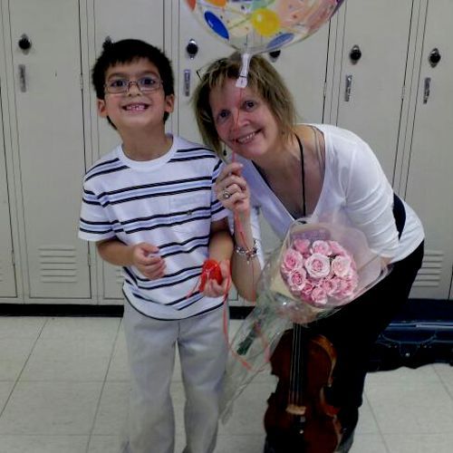 Myself, with Colin after recital.