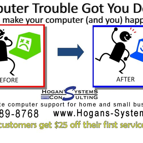 We will make your computer happy again!