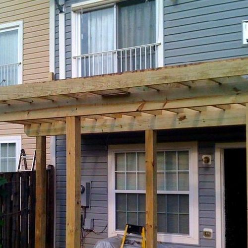 Deck in Rockville MD (framing)
