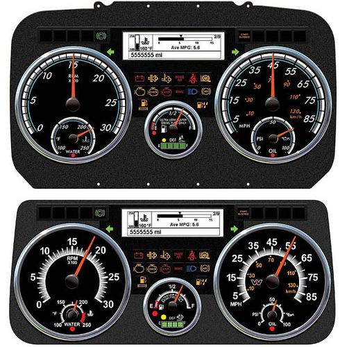 Technical illustration for new vehicle instrument panel.