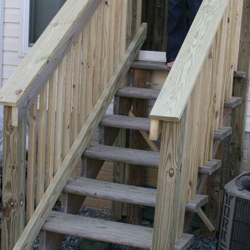 Deck stairs for a Maryland townhome