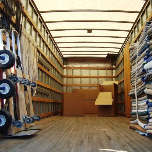 We only use 26 foot box trucks, complete with equipment, for optimal moving efficiency.