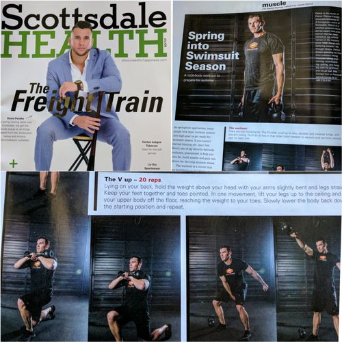 Scottsdale Health Muscle & Fitness section. March 2017