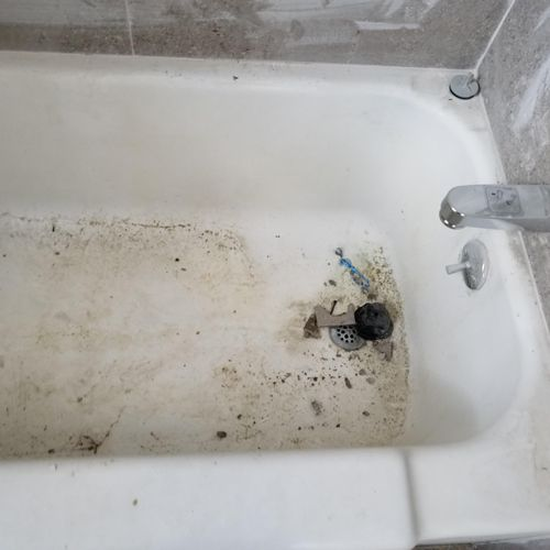 Before bathroom cleaning