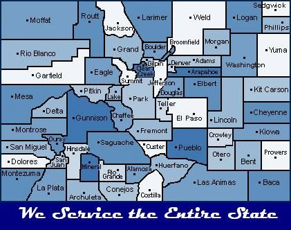We Service every County in Colorado