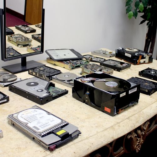 Our museum of damaged hard drives