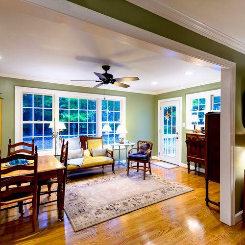 Interior picture of room addition in Seaford, Virginia