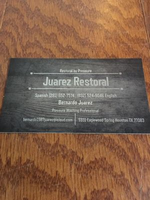 Avatar for Juarez Pressure Restoral Houston, TX Thumbtack