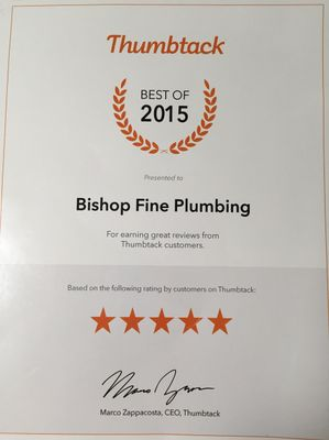 Avatar for Bishop Fine Plumbing-Water Heater Specialist Buckeye, AZ Thumbtack