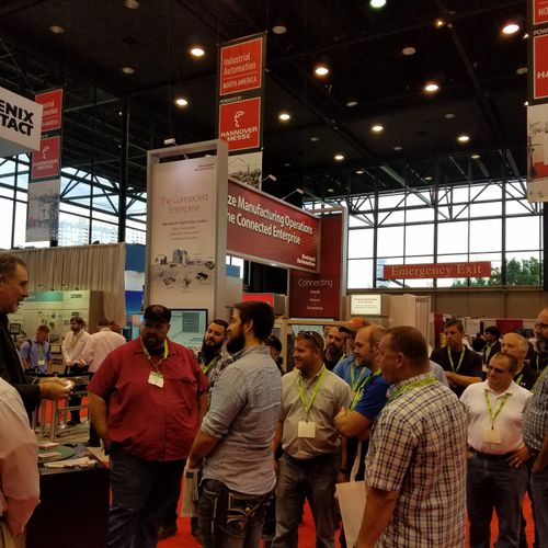 Trade show magic draws crowds, engaging potential leads.