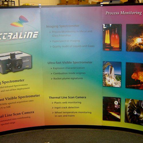 Trade Show Display I designed for Spectraline.